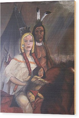The Cynthia Ann Parker Family Wood Print by Laurie Kidd