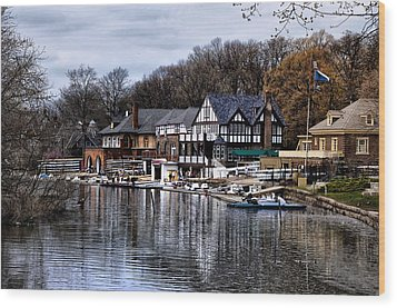 The Docks At Boathouse Row - Philadelphia Wood Print by Bill Cannon