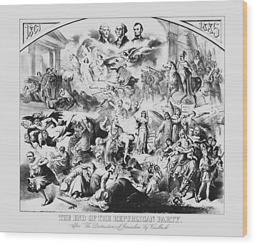 The End Of The Republican Party Wood Print by War Is Hell Store