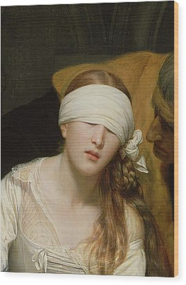 The Execution Of Lady Jane Grey Wood Print by Hippolyte Delaroche