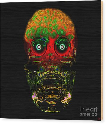 The Face Of Man Wood Print by David Lee Thompson