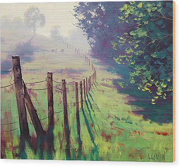 The Fence Line Wood Print by Graham Gercken