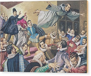 The Flight Of Father Dominic Wood Print by English School