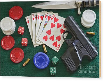 The Gambler Wood Print by Paul Ward
