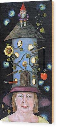 The Gardener Wood Print by Leah Saulnier The Painting Maniac