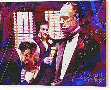 The Godfather Kiss Wood Print by David Lloyd Glover