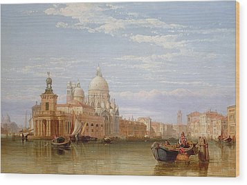 The Grand Canal - Venice Wood Print by George Clarkson Stanfield