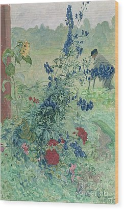 The Grandfather Wood Print by Carl Larsson