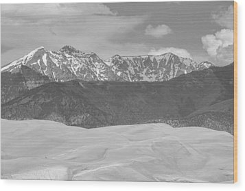 The Great Colorado Sand Dunes  Wood Print by James BO  Insogna