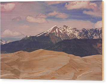 The Great Sand Dunes And Sangre De Cristo Mountains Wood Print by James BO  Insogna