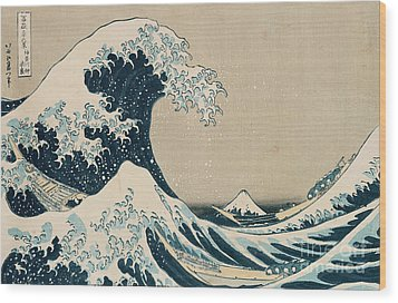 The Great Wave Of Kanagawa Wood Print by Hokusai