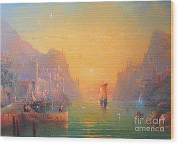 The Grey Havens. The Gulls Lament.  Oil On Canvas Wood Print by Joe  Gilronan