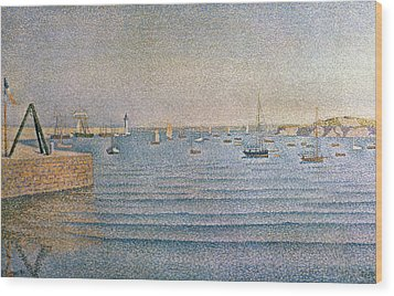 The Harbour At Portrieux Wood Print by Paul Signac