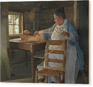 The Hat Maker Wood Print by JK York