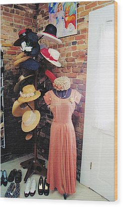 The Hat Rack Wood Print by Jan Amiss Photography