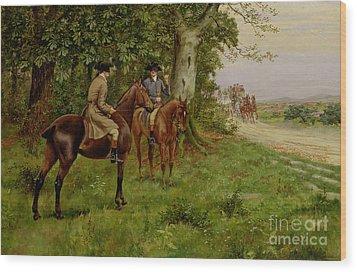 The Highwaymen Wood Print by George Derville Rowlandson