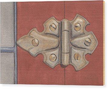 The Hinge Wood Print by Ken Powers