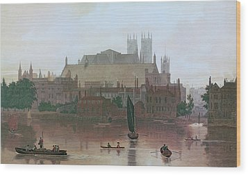 The Houses Of Parliament Wood Print by George Fennel Robson