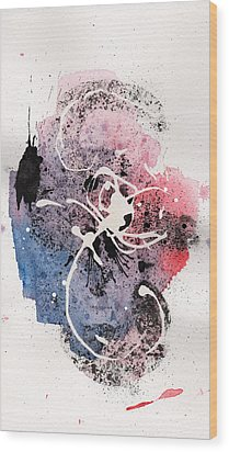 The Inexplicable Ignition Of Time Expanding Into Free Space Phase Two Number 12 Wood Print by Mark M  Mellon