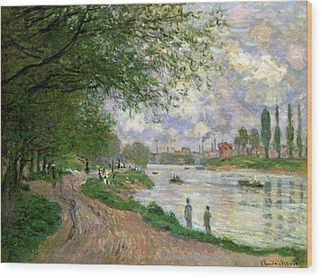 The Island Of La Grande Jatte Wood Print by Claude Monet