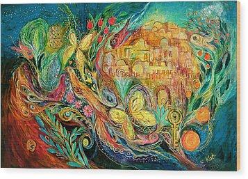 The Jerusalem Key Wood Print by Elena Kotliarker