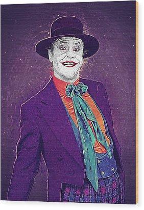 The Joker Wood Print by Taylan Soyturk