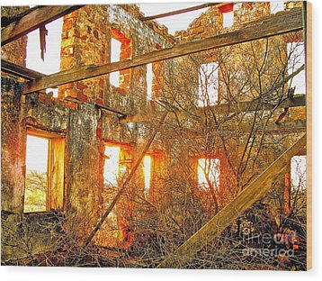 The Light Around The Body Wood Print by Chuck Taylor