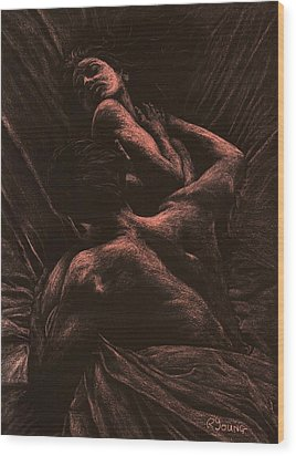 The Lovers Wood Print by Richard Young
