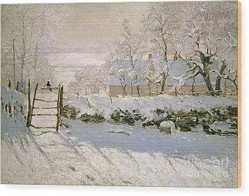 The Magpie Wood Print by Claude Monet