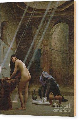 The Moorish Bath Wood Print by Jean Leon Gerome