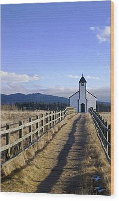 The Morley Church, Alberta, Canada Wood Print by Philippe Widling