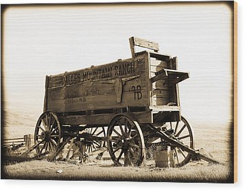 The Old Wagon Wood Print by Steve McKinzie