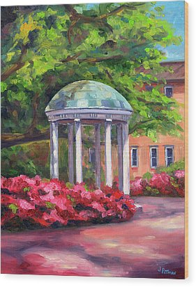 The Old Well Unc Wood Print by Jeff Pittman