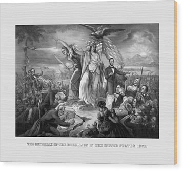 The Outbreak Of The Rebellion In The United States Wood Print by War Is Hell Store
