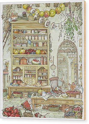 The Palace Kitchen Wood Print by Brambly Hedge