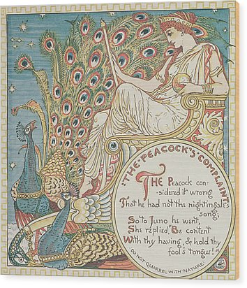 The Peacocks Complaint Wood Print by English School