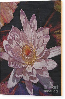 The Perfect Lily Wood Print by Melissa Tobia
