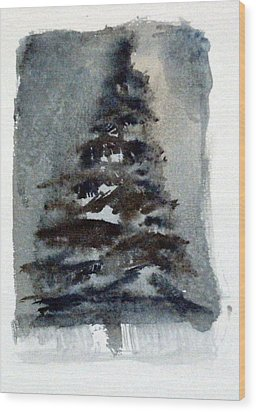 The Pine Tree Wood Print by Mindy Newman