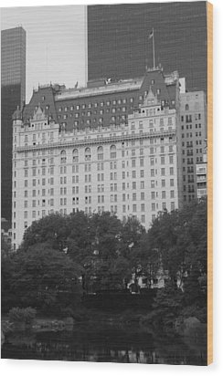 The Plaza Hotel Wood Print by Christopher Kirby