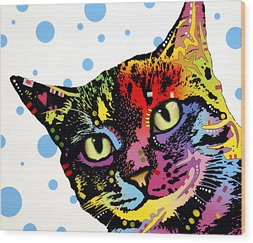 The Pop Cat Wood Print by Dean Russo