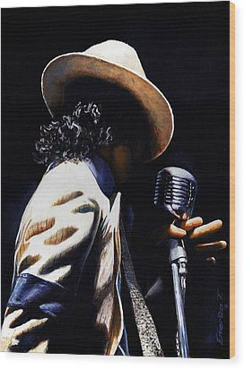 The Pop King Wood Print by Emerico Imre Toth