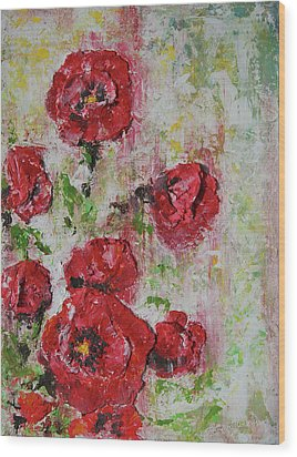 The Poppies Wood Print by Tatiana Ilieva