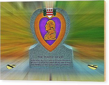 the Purple Heart Wood Print by Francisco Colon