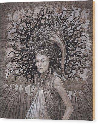 The Ravenous Pregnancy Wood Print by Ethan Harris