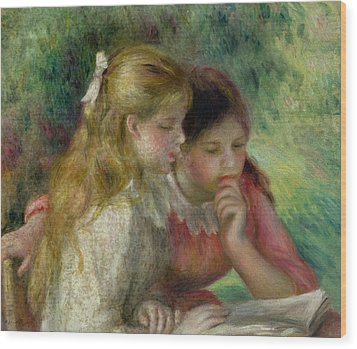 The Reading Wood Print by Pierre Auguste Renoir