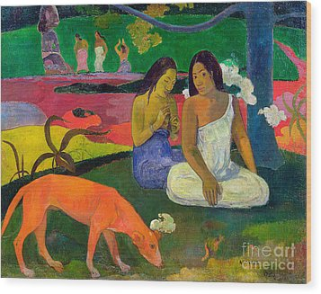 The Red Dog Wood Print by Paul Gauguin