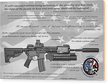 The Right To Bear Arms Wood Print by Daniel Hagerman
