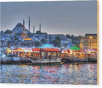 The Riverboats Of Istanbul Wood Print by Michael Garyet