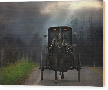 The Road Less Traveled Wood Print by Lori Deiter