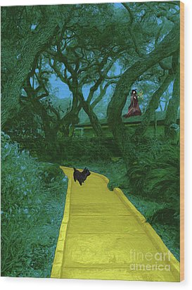 The Road To Oz Wood Print by Methune Hively